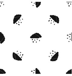 Clouds and hail pattern seamless black vector