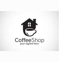 coffee shop logo template design vector image