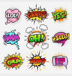 comic sounds set-5 vector image