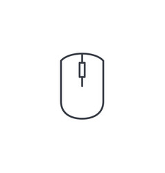 Computer mouse thin line icon linear vector