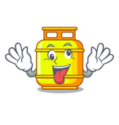 Crazy gas tank cylinder isolated on mascot vector