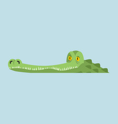 Crocodile in water alligator in river water vector