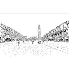 Doges palace st marks square venice italy vector