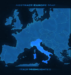 Europe abstract map italy vector