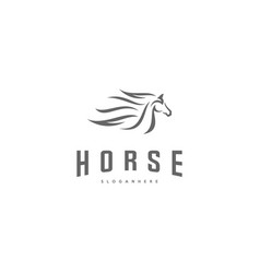 fast speed horse logo design horse logo template vector image