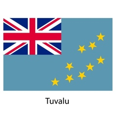 Flag of the country tuvalu vector image