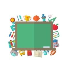 Flat Icons of Blackboard vector image vector image