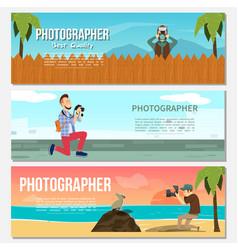 flat photography horizontal banners vector image