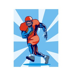 Football Player Running vector