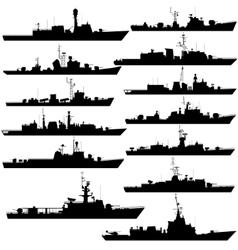 Frigates and corvettes-1 vector