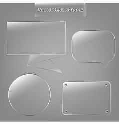Glass Frame Set vector image