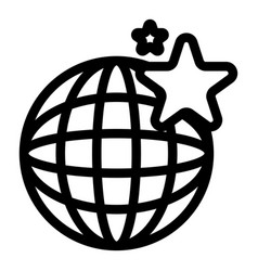 Global mall icon outline style vector