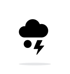 Hail with lightning weather simple icon on white vector image