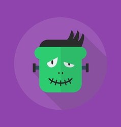 Halloween Flat Icon Frankenstein vector