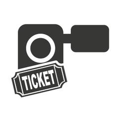handy cam with cinema icon vector image