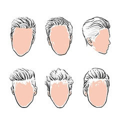 hipster fashion man hair Hand drawn vector image