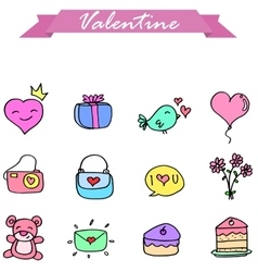 Icon valentine collection stock vector image