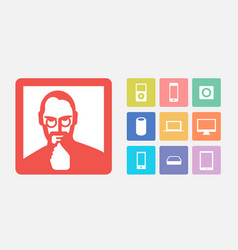 Iconic device symbols vector