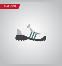 Isolated gumshoes flat icon sneakers vector
