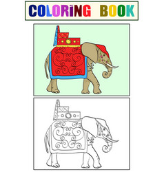 Isolated object coloring and coloring black lines vector