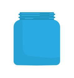 Jar glass concept flat liquid empty bottle icon vector