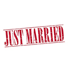 just married red grunge vintage stamp isolated on vector image
