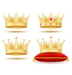 King royal golden crown vector