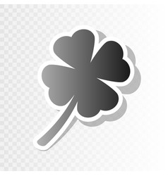 Leaf clover sign new year blackish icon vector