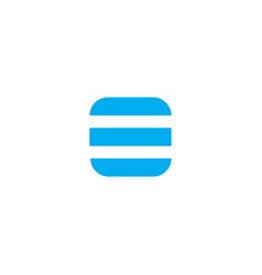 logo letter o blue stripes vector image