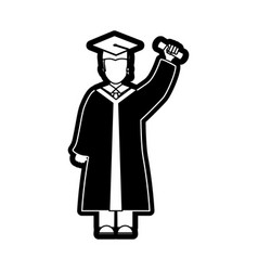 man graduating vector image