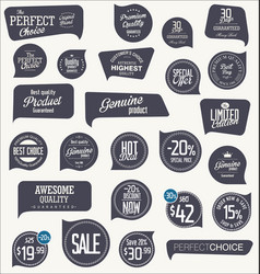 modern design sale labels and badges vector image