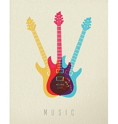 Music concept icon electric guitar color design vector image