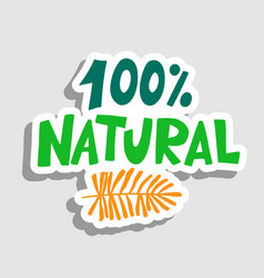 natural product sign for labels emblems vector image