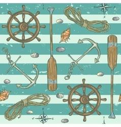 Nautical background Marine pattern vector
