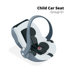 Newborn baby Car Seat isolated on white isolated vector image