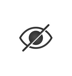 No eye prohibition sign no look forbidden symbol vector