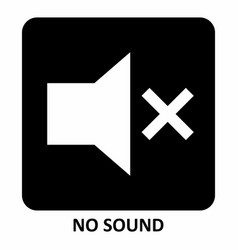 no sound symbol vector image