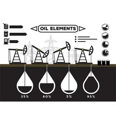 Oil field infographics vector