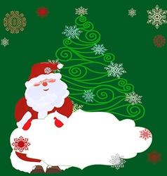 Openwork Christmas tree1 vector image
