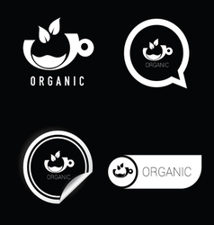 organic symbol black and white vector image