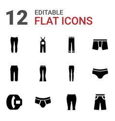 Pants icons vector