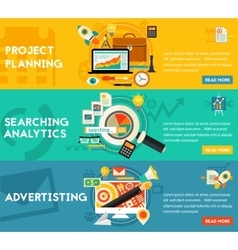 Planning Searching Analytics Advertising Concept vector image