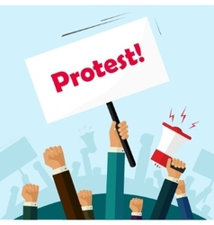 Politic protest signs crowd of people protesters vector