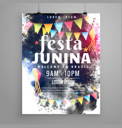 Poster design for festa junina invitation vector