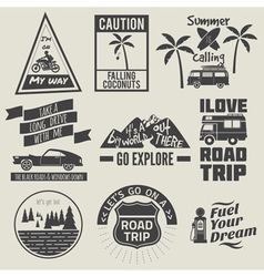 Road trip badges vector
