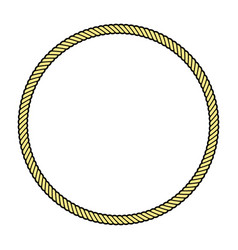 Rope frame circle vector
