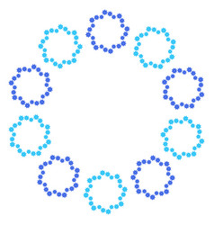 Round wreath of light blue and dark blue vector
