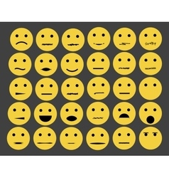 Set of emoticons emoji isolated on white vector