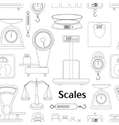 Set of scales pattern vector image