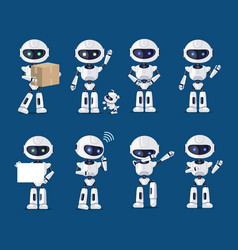 set of various robots activity vector image